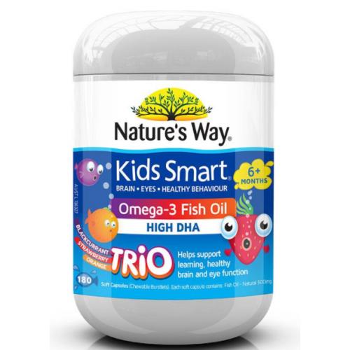 Nature's Way 佳思敏 儿童鱼油三种口味180粒 PS:天气原因导致融化不在理赔范围!