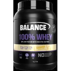 Balance 100% WHEY 乳清蛋白粉 1kg 香蕉味