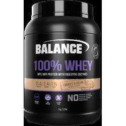 Balance 100% WHEY 乳清蛋白粉 1kg 曲奇味