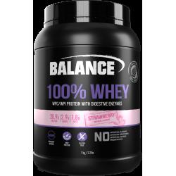 Balance 100% WHEY 乳清蛋白粉 1kg 草莓味