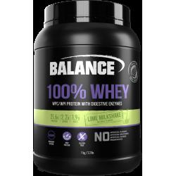 Balance 100% WHEY 乳清蛋白粉 1kg 青柠味