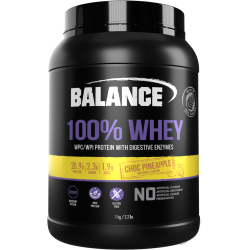 Balance 100% WHEY 乳清蛋白粉 1kg 巧克+菠萝混合味