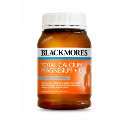Blackmores 活性钙镁片 预防骨质疏松 200片 维骨力关节灵的好搭档