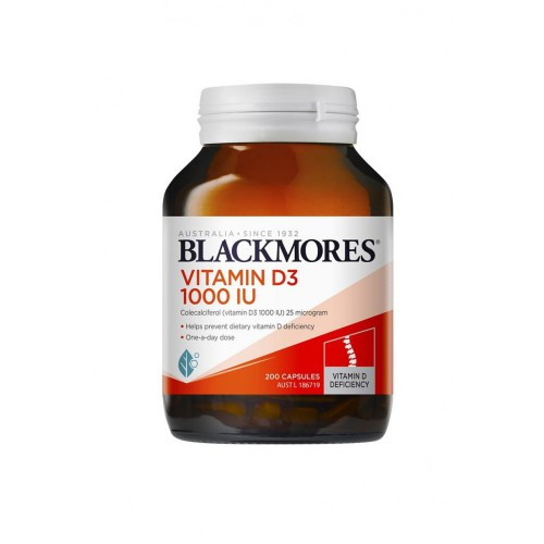 Blackmores 天然维生素D3胶囊1000IU 200粒