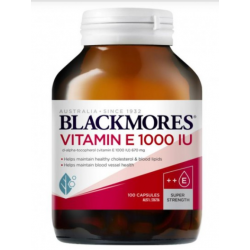 Blackmores 天然维生素E 1000IU 100粒 养颜抗氧化