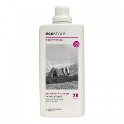 【一瓶包邮】ecostore 纯天然植物配方洗衣液 1L 天竺葵&香橙